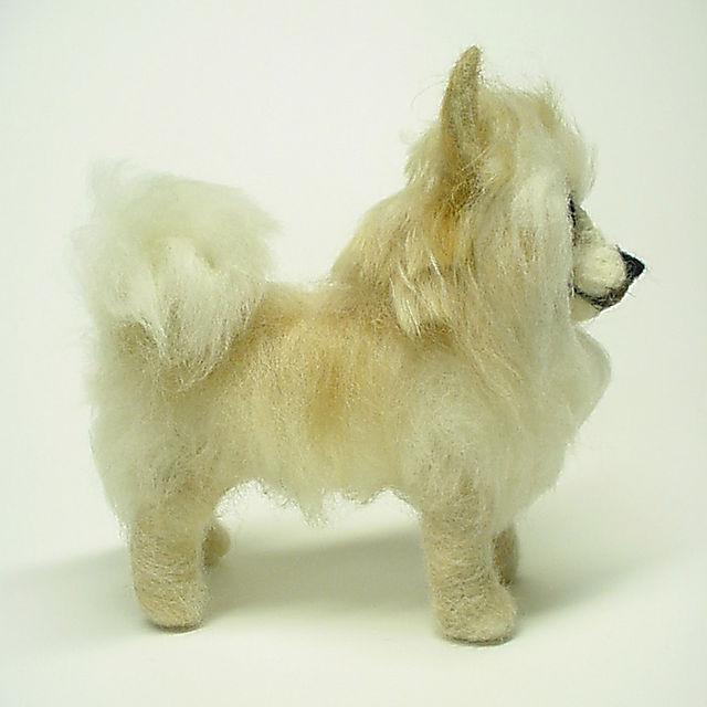 Bayou the Pomeranian, Needle Felted Dog Portrait - commissions at www.ameliamakesart.etsy.com